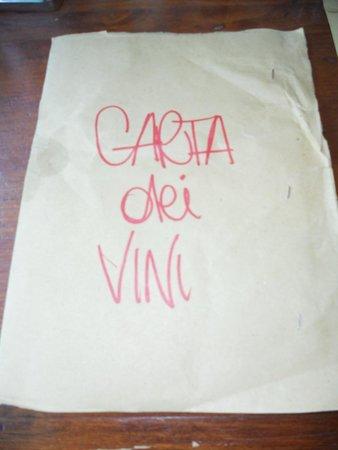 Ristorante Zocchi SRL : I menu scritti a mano