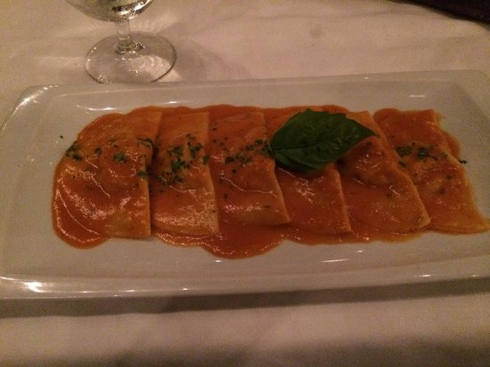 Limoncello: Ravioli stuffed with shrimp.