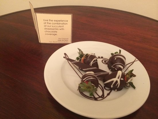 Paradisus Palma Real Golf & Spa Resort: nice surprise left by the butler!