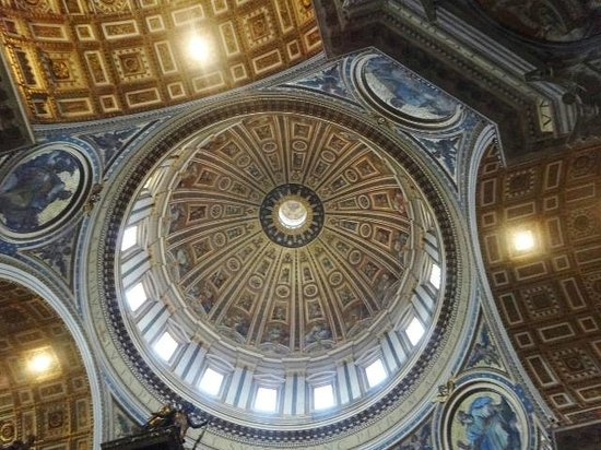 Vatican Guided Tours : VATICAN ST. PETERS BASILICA CEILING DOME