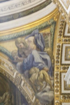 Vatican Guided Tours : VATICAN ST. PETERS BASILICA CEILING DETAIL