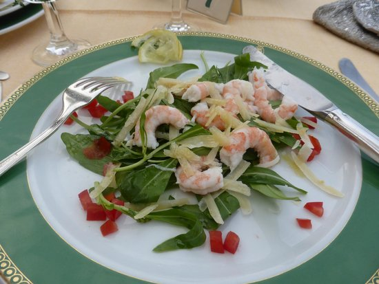 Grand Hotel Capodimonte: One of the choices for the first course, evening dinner