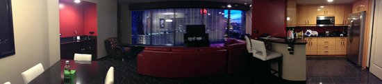 Elara by Hilton Grand Vacations: Living room view night time