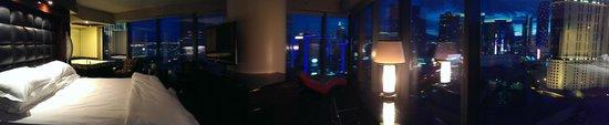 Elara, a Hilton Grand Vacations Club: Master suite view at night