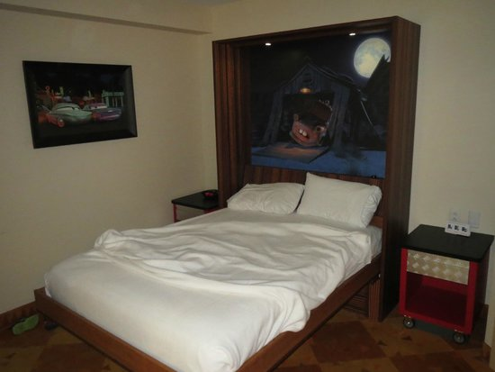 Disney's Art of Animation Resort: The Murphy bed which is also the dining table.