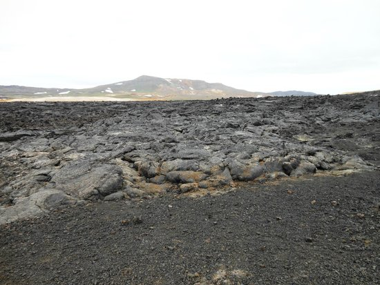 Krafla Lava Fields: View on the lava field