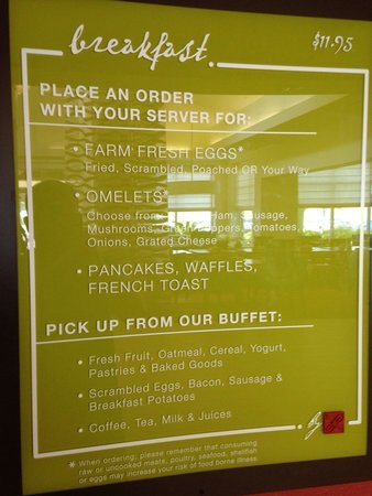 Hilton Garden Inn New Orleans Airport: They don't have pancakes, waffles, or French toast, and you have to ask for table service which