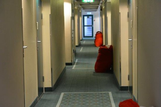 Scandic Narvik: shame this laundry is left for the day on corridors