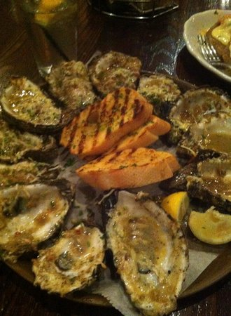 Parrain's Seafood Restaurant: charbroiled oysters