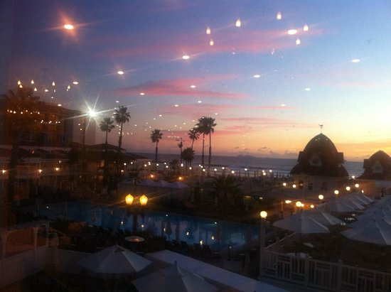Hotel del Coronado: view from main convention hall at dusk
