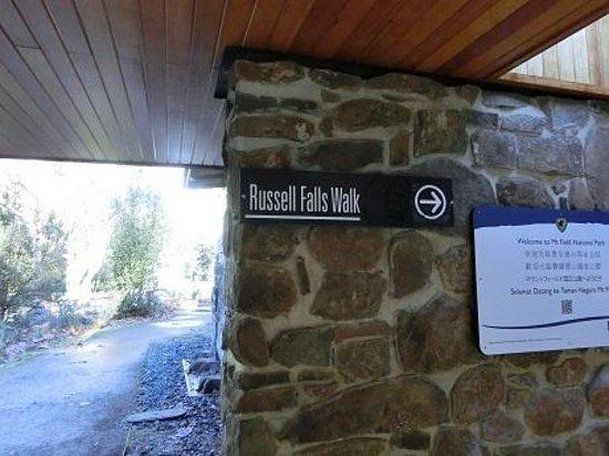 Russell Falls: 入り口