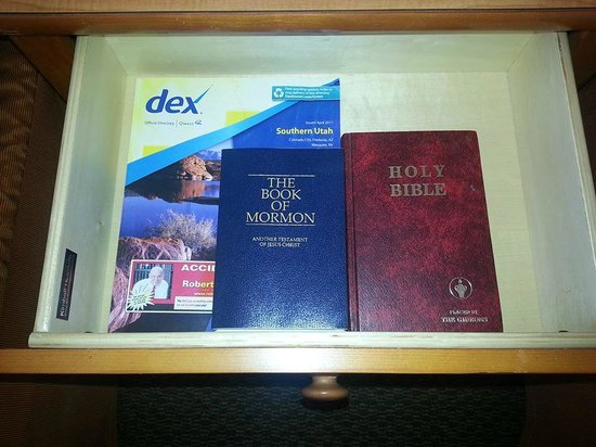BEST WESTERN PLUS Ruby's Inn: Bedside Table (yep, you're in Utah!)