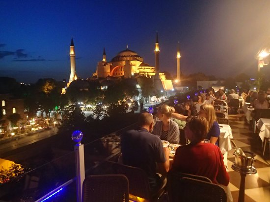 Seven Hills Hotel: Hagia Sophia from the roof terrace