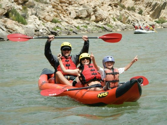 Dinosaur River Expeditions: Steve Merridee & Quentin celebrate after rapid!