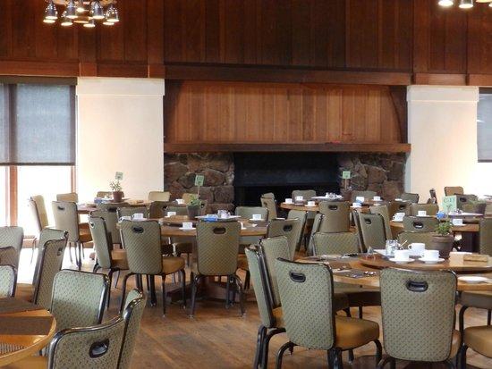 Asilomar Conference Grounds: dining area fireplace