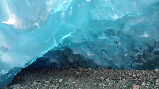 St. Elias Alpine Guides: Ice caving below Kennicott Glacier.
