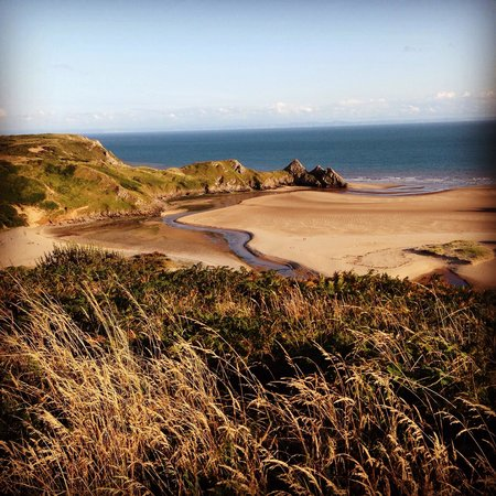 Three Cliffs Bay Holiday Park : The view