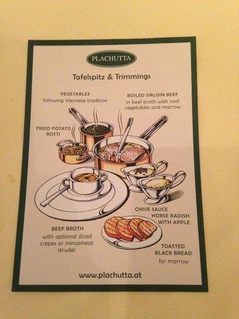Plachutta Wollzeile: The dish information