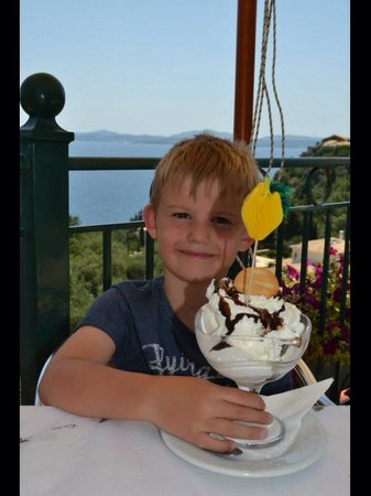 Impressive ice cream. According to our son, the best on Corfu!