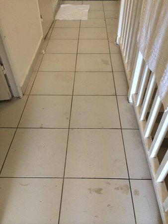 Pierre & Vacances Résidence Cannes Villa Francia : État du sol, preuve de la vétusté et du mauvais nettoyage des appartements
