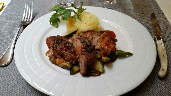 Auberge Le Bouc Bleu : Cochon ibérique + purée de pommes de terre