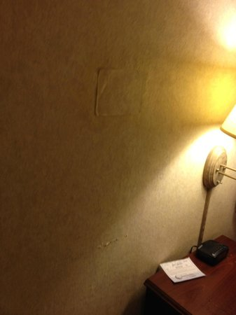 BEST WESTERN Airport Albuquerque InnSuites Hotel & Suites: ripped out patch of wallpaper