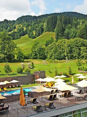 Kempinski Hotel Das Tirol: Blick vom Balkon