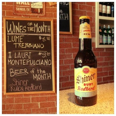 INZO Italian Kitchen: Nothing finer than a cold Shiner, especially in TX