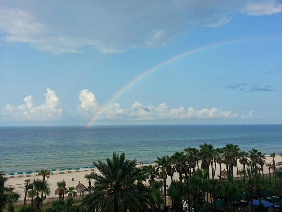 Holiday Inn Resort Panama City Beach: morning rainbow