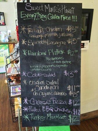 Sweet Marie's Hawaii : A nice menu