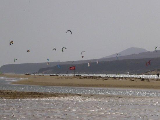 Playa de Sotavento : Alta marea