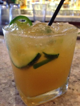 Palmilla Restaurant : Mango Margarita with jalapeno and cucumber