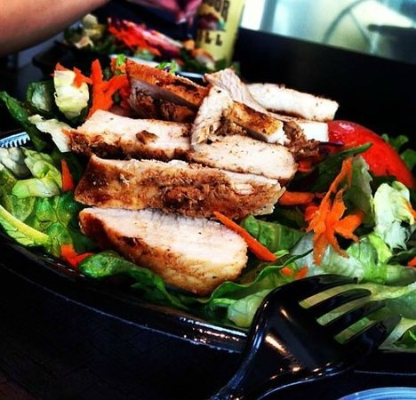 Outdoor Grill: Try a salad with chicken