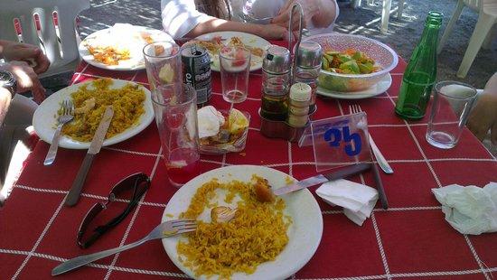 Burriana Beach: Paella en Playa Burriana