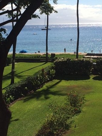 Kaanapali Beach Hotel: View from our Garden Room