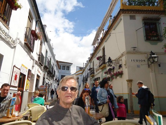 Jewish Quarter (Juderia): Callejuelas  adornadas con flores.