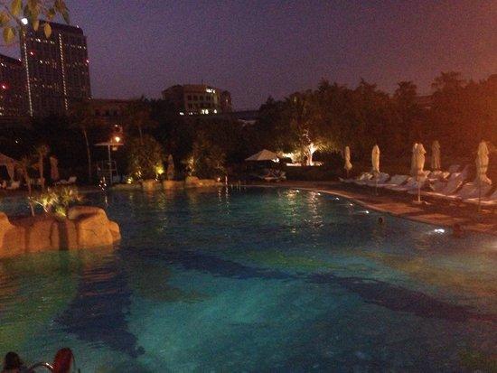 Grand Hyatt Dubai: Swimming pool at night