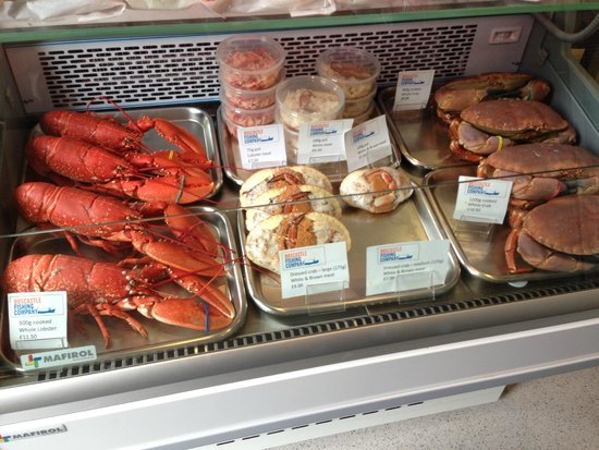 Boscastle Fishing Company: Typical products in the counter