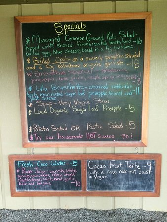 The Garden Cafe at Common Ground: An interesting menu