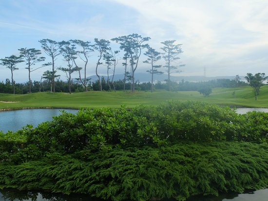 The Ritz-Carlton, Okinawa : 部屋のバルコニーからの景色