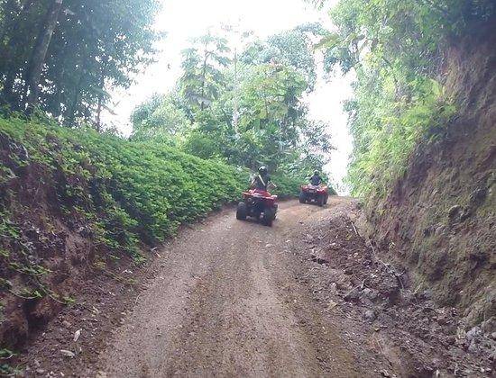 ATV Adventure Tours Costa Rica : uphill from waterfall