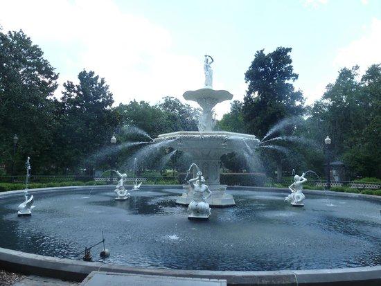 Parc Forsyth : Forsyth Park Fountain, Forsyth Park, Savannah, GA