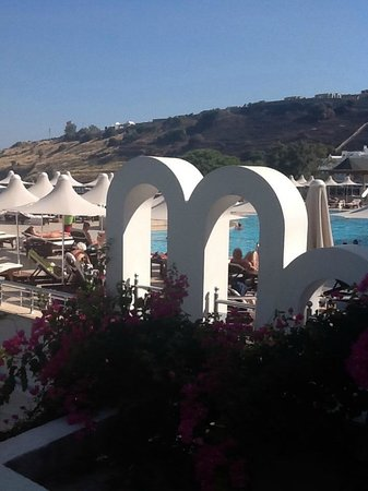 Azka Otel : view from our room