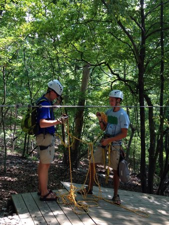 Ozark Mountain Ziplines: The best guides EVER!!  Matthew and Jake.