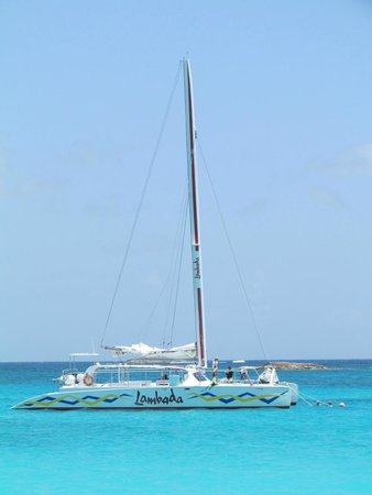Simpson Bay, St. Martin: Our chariot for Sunset Cruise and Day to Prickley/Anguilla