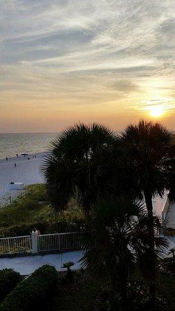 Beachside Resort : sunset from our 3rd floor balcony! Breathtaking!