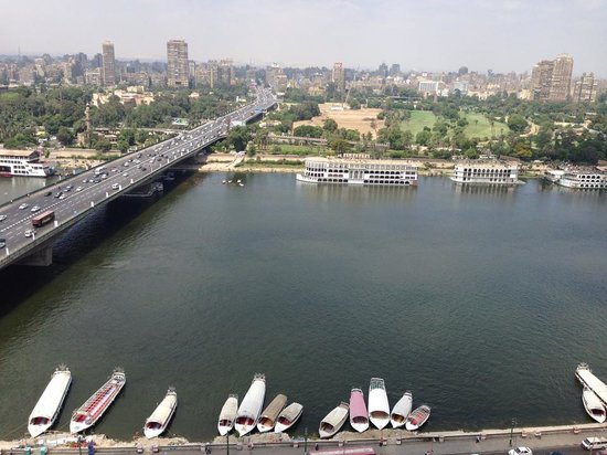 Ramses Hilton: Nile tower view from room balcony