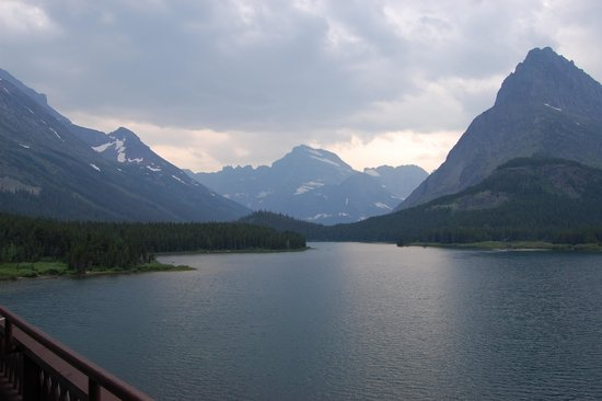 Many Glacier Hotel: view from our balcony