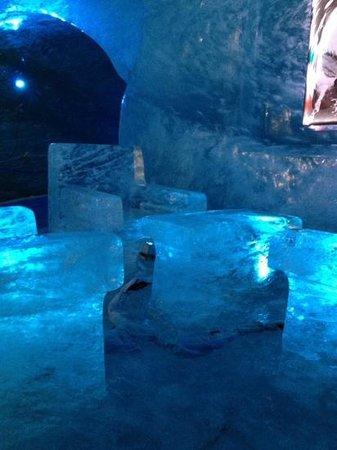 Montenvers Train - La Mer de Glace: first exhibit in the ice cave!