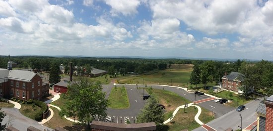 Gettysburg Seminary Ridge Museum: Panoramic shot of the battlefield from atop the cupola